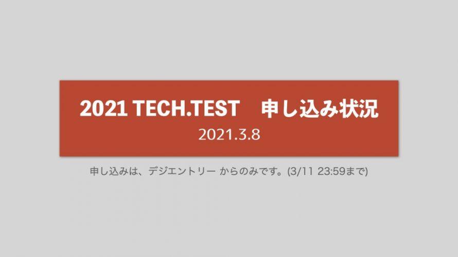 TECH.TEST申し込み状況【2021.3.8 確認 】
